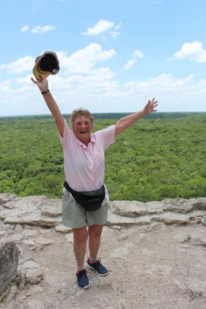 On top of the pyramid, jungle in Coba Mexico, August 2016